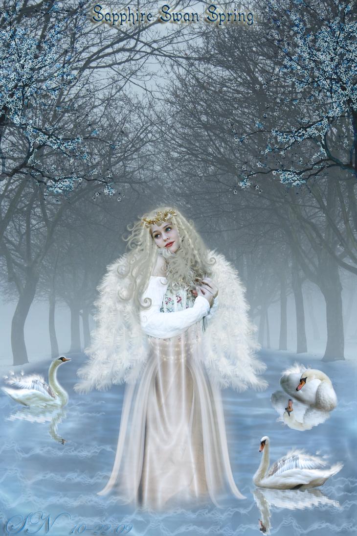 Sapphire Swan Spring by MisssBarbie