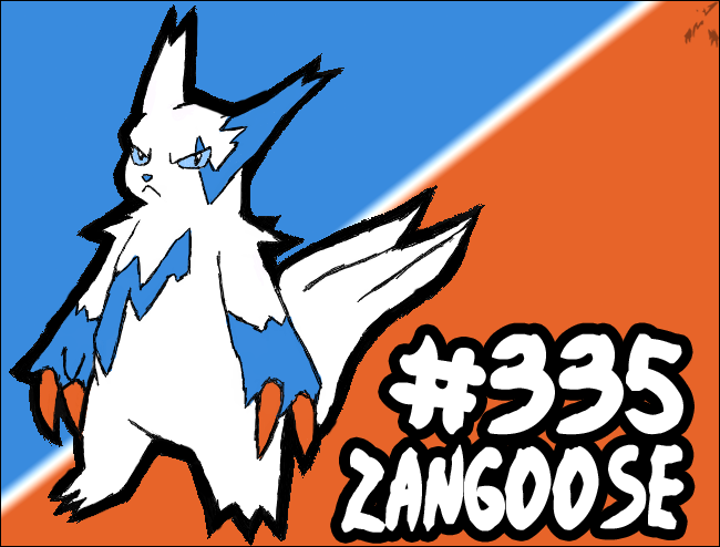 Zangoose #335 by Ashinazuma