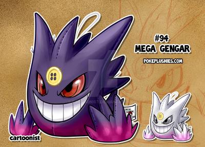 #94 Mega Gengar by cartoonist