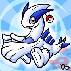 Pokemon- Lugia Plushie by cartoonist