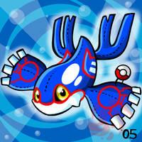 Pokemon- Kyogre Plushie by cartoonist