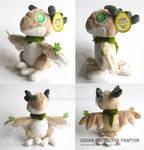 Cream Protector Traptor Plushie