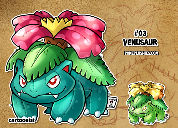 #03 Venusaur by cartoonist