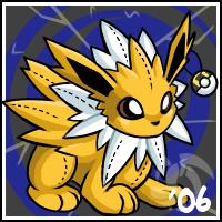Pokemon- Jolteon Stuffie by cartoonist