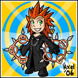 Kingdom Hearts- Axel Stuffie by cartoonist