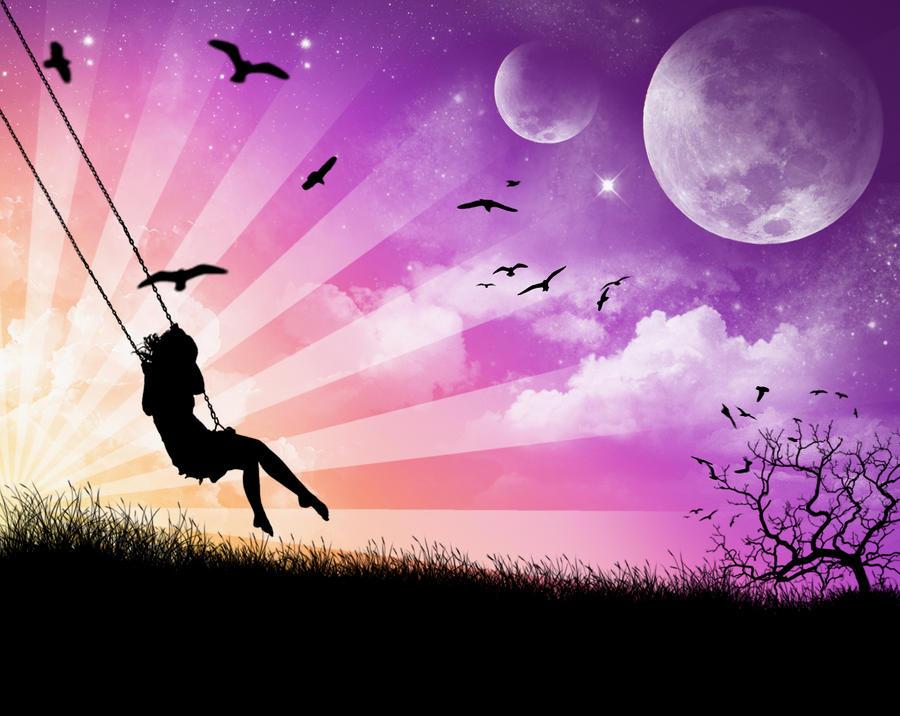 Girl On Swing by wise-purple-joda