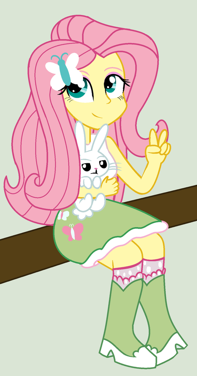 Fluttershy and Angel by MrTheAmazingDude