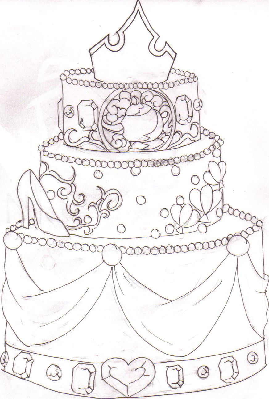 Sketch A Cake Design : Princess Cake design by blkmagick on DeviantArt