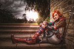 Triss joined me during the attack on the Old Manor by MsSkunk