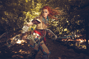 Aloy in action