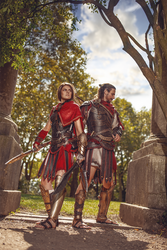Kassandra and Alexios. by MsSkunk