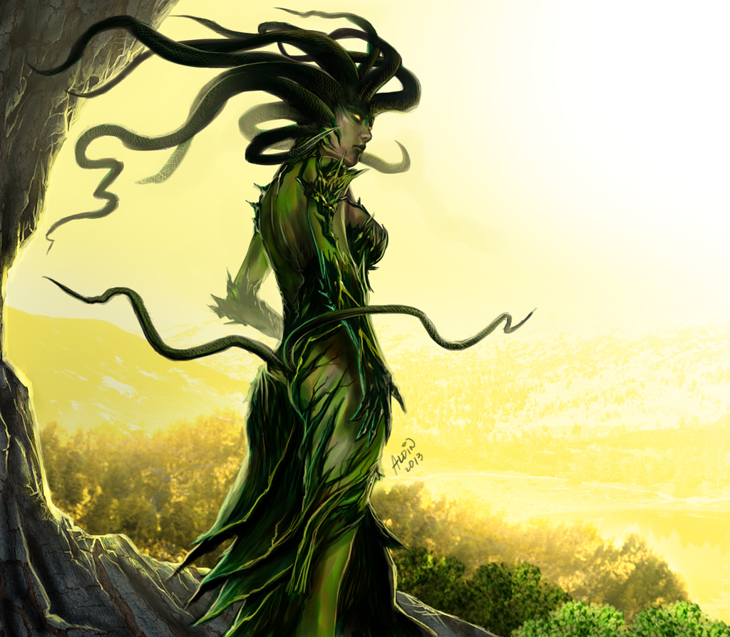 Vraska the Unseen fan art by Aldin