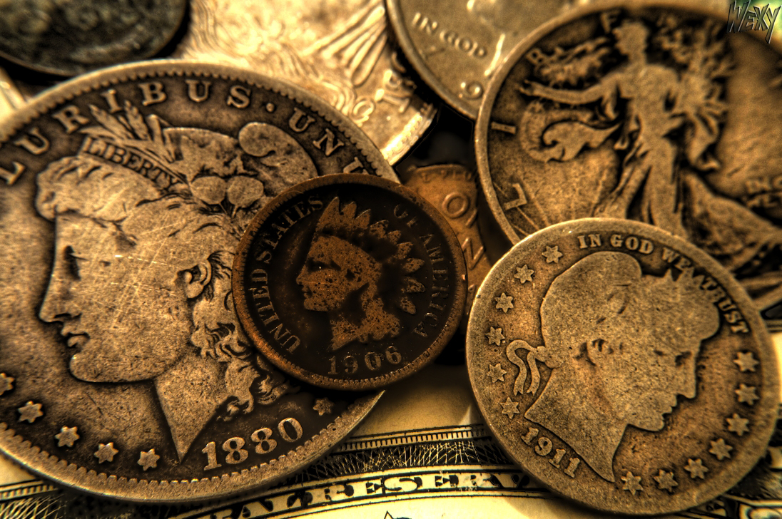old coins and currency