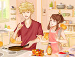 Cooking with Kacchako