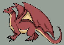 Pixeling a dragon by lur