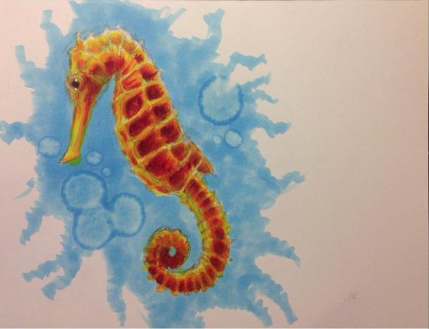 Golden Seahorse by IzzieCat