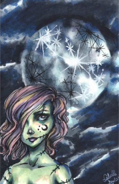 Full Moon by IzzieCat
