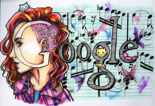 Doodle 4 Google: Kittens and Quarter Notes by IzzieCat