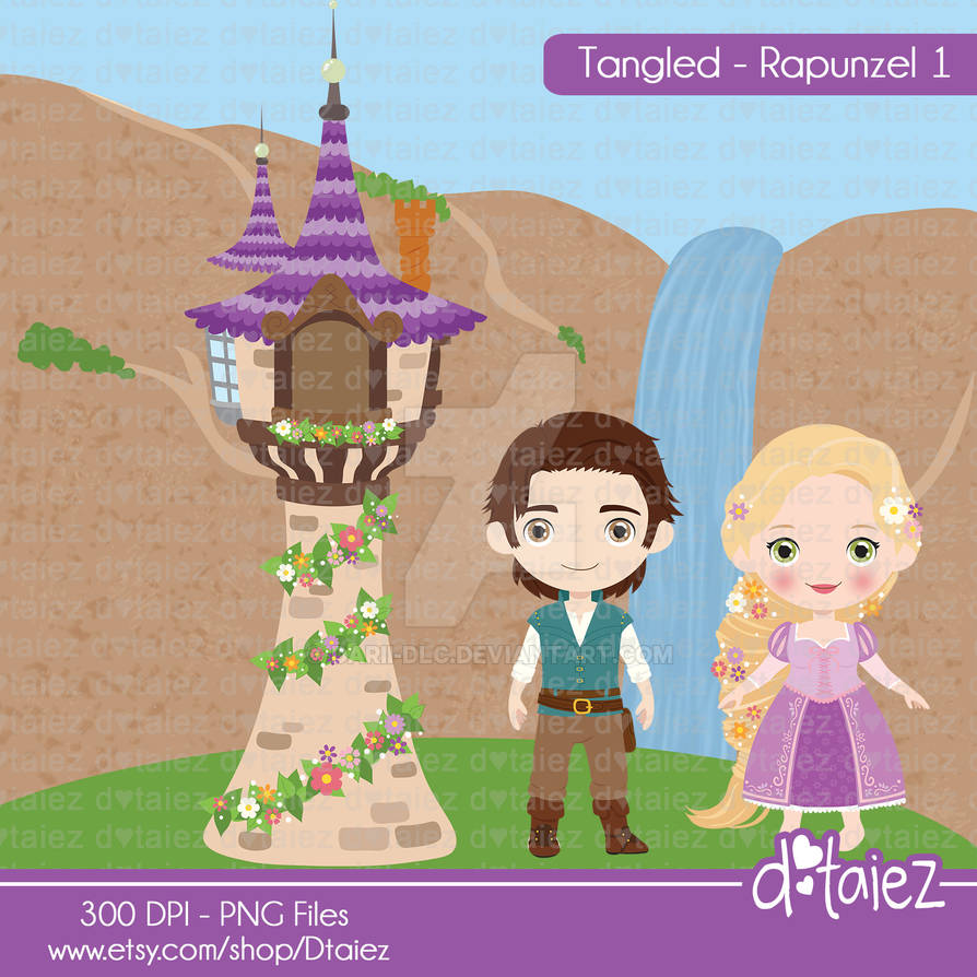 Tangled Rapunzel Clipart By Darii Dlc On Deviantart