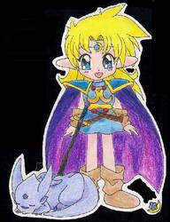 Elfa y dragonicho by yishana