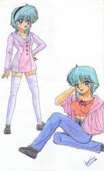 El primer dibujo de pelo azul