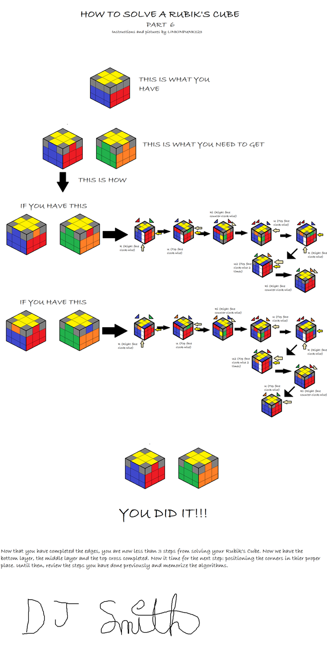 How To Solve A Rubik's Cube 6 By Linkinpunk123