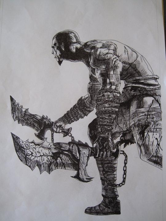 God Of War Drawing By Chriluke On Deviantart