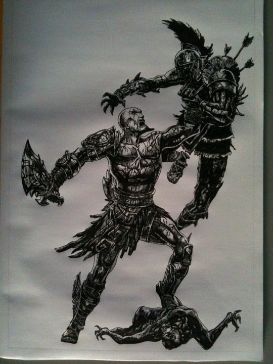 God Of War 3 Drawing By Chriluke On Deviantart