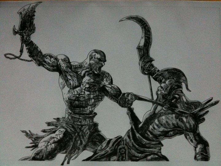 God Of War 2 Drawing By Chriluke On Deviantart