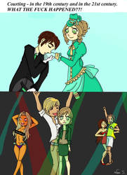 When courting was still classy by AstralGuardian