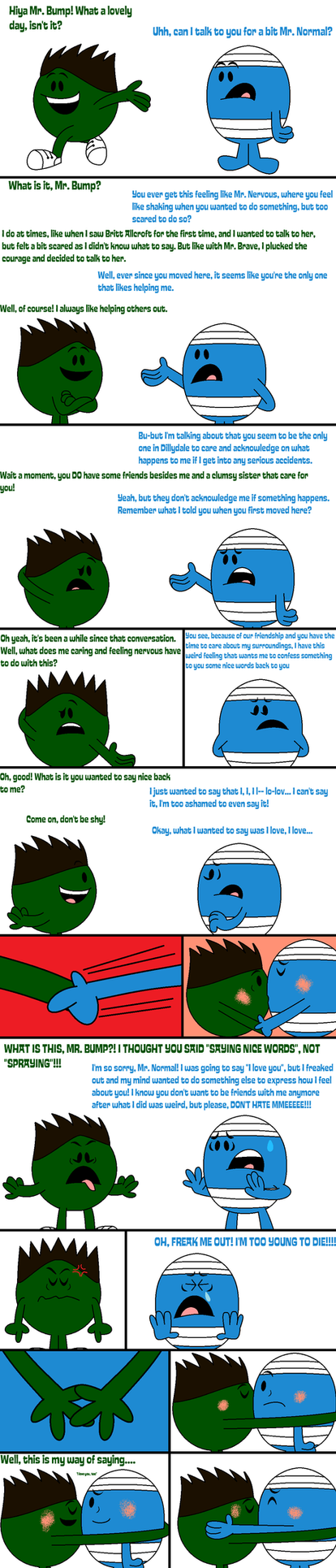 Mr. Bump's confession to Mr. Normal by Percyfan94