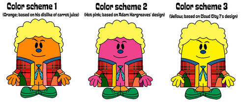 Sixth Doctor in Mr. Men form color schemes by Percyfan94