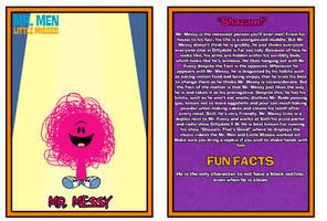 Mr. Men Show Bio Card - Mr. Messy