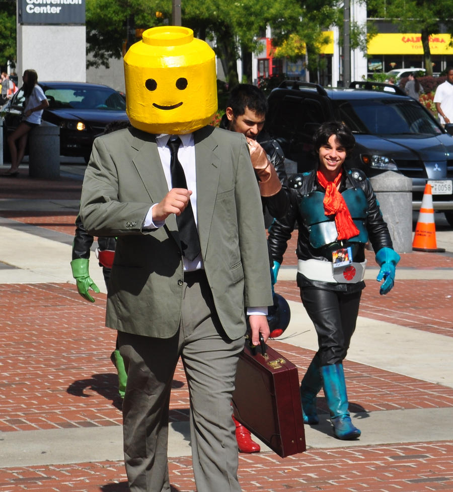 Otakon - Lego Man Walking by Flower-of-Grace on DeviantArt