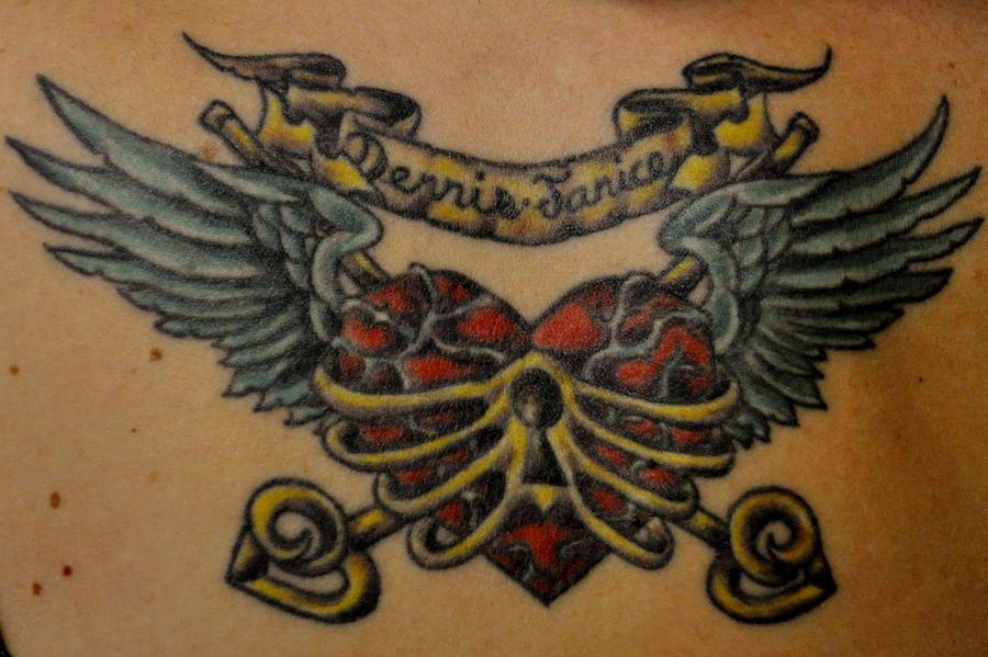 Enhanced Tattoo Dennis And Jan By Flower Of Grace On Deviantart