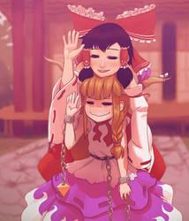 Reimu and Suika by soumakyo