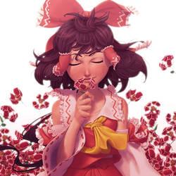 The flower named Reimu by soumakyo