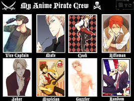My Hetalia Pirate Crew by Little-Lyrebird