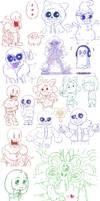Undertale Doodles #2 by Mochiyy