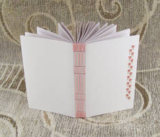pink stitches, lined journal