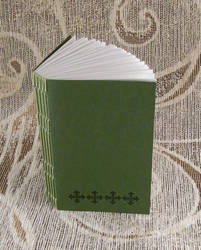 green stitches unlined journal