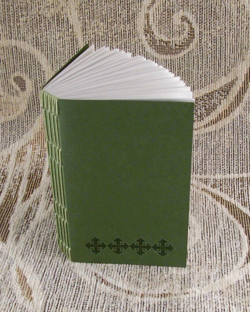 green stitches unlined journal by yatsu