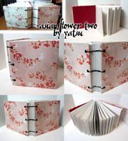 blank book - asian flower two by yatsu