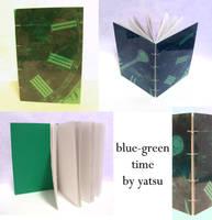 blank book - blue-green time by yatsu