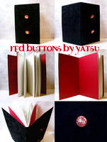 blank book - red buttons by yatsu