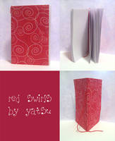 blank book - red swirls by yatsu