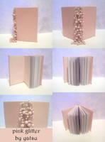 blank book - pink glitter by yatsu