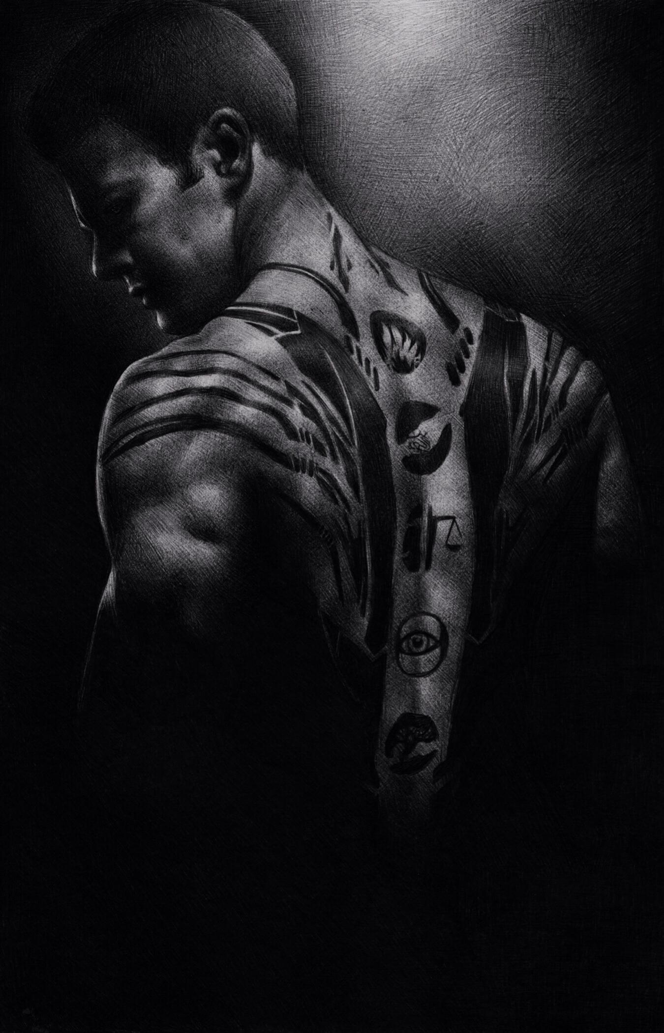 Divergent 'Four' drawing by johanne-art on DeviantArt