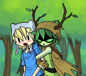 Finn x Huntress wizard by NecroStingySMP