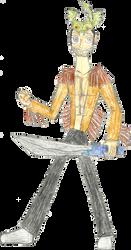 Dragonhat Swordsman by dogdragon